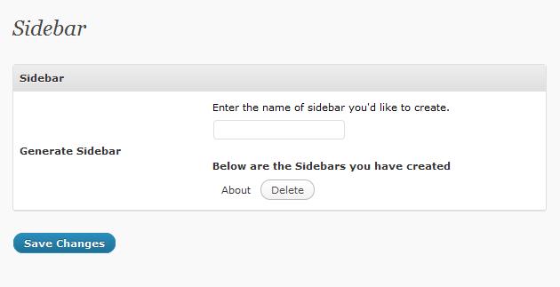 Sidebar Options