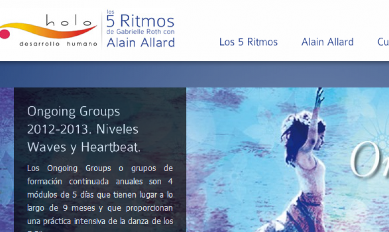 Gabrielle Roth's 5 Rhythms with Alain Allard in Spain